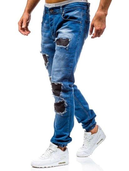 Bolf Herren Jeanshose Jogger Blau  0820