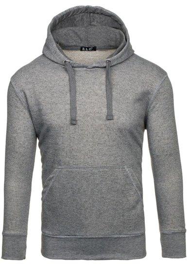 Bolf Herren Kapuzenpullover Grau  5105