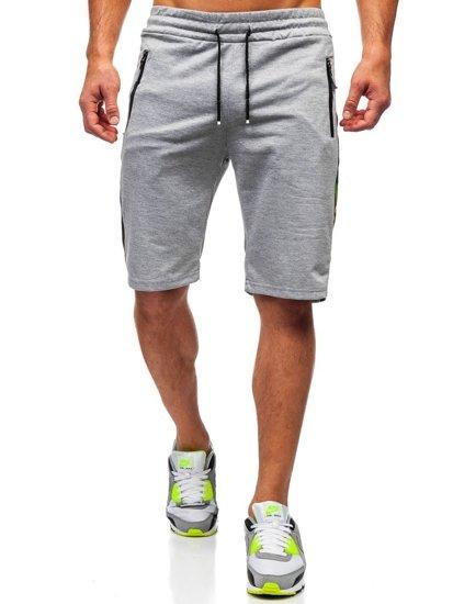 Bolf Herren Kurze Sporthose Grau  JX336