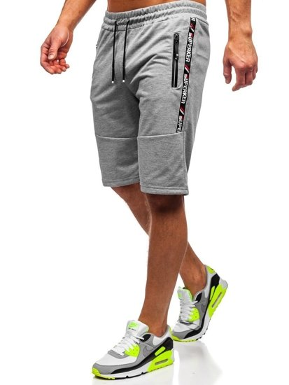 Bolf Herren Kurze Sporthose Grau  JX352