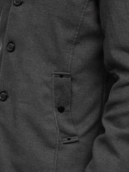 Bolf Herren Mantel Grau  8853
