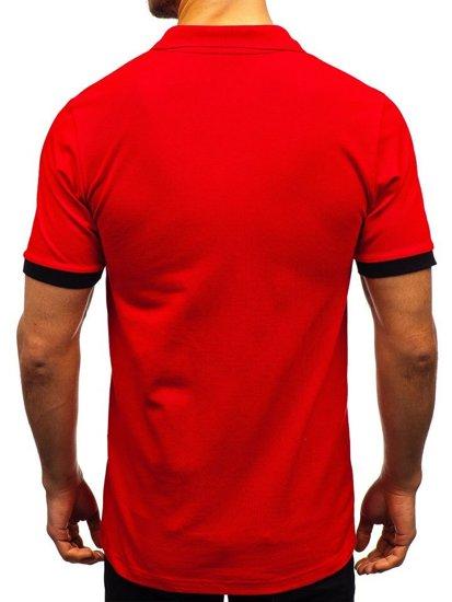 Bolf Herren Poloshirt Rot  171222-1