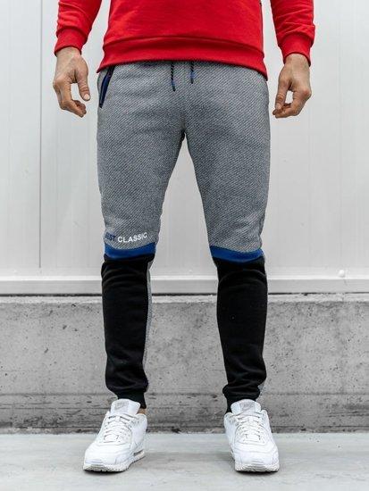 Bolf Herren Sporthose Grau AM70