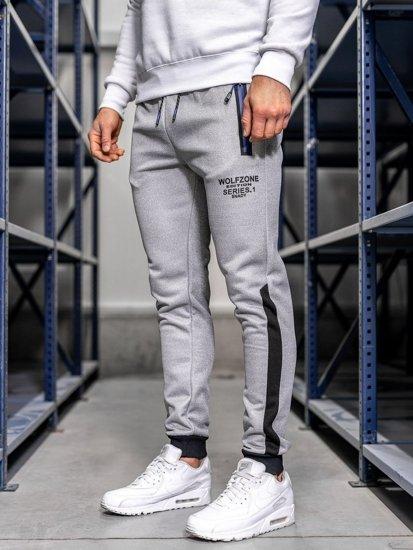 Bolf Herren Sporthose Grau AM76