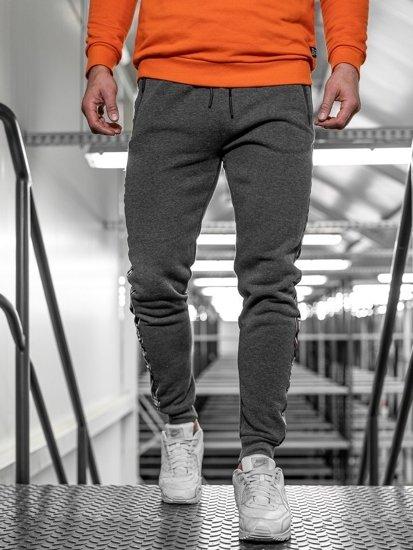 Bolf Herren Sporthose Grau  JX8972