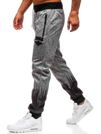 Bolf Herren Sporthose Jogger Grau  HM008
