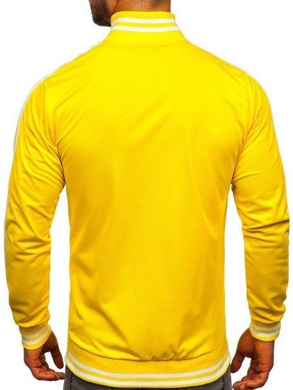 Bolf Herren Sweatshirt mit Reißverschluss retro style Gelb  11113