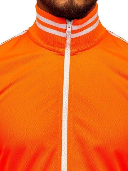 Bolf Herren Sweatshirt mit Reißverschluss retro style Orange  11113