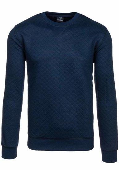 Bolf Herren Sweatshirt ohne Kapuze Dunkelblau 1818