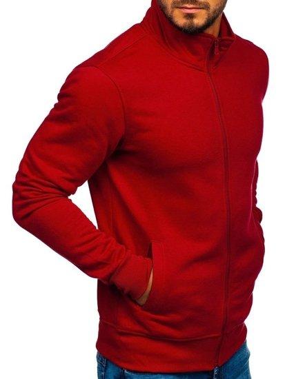 Bolf Herren Sweatshirt mit Reißverschluss Weinrot  B002
