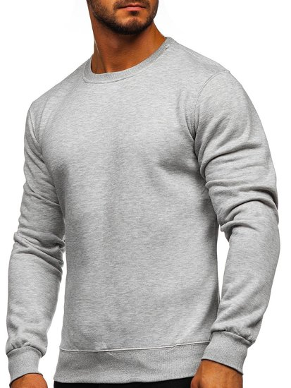 Bolf Herren Sweatshirt ohne Kapuze Grau 2001