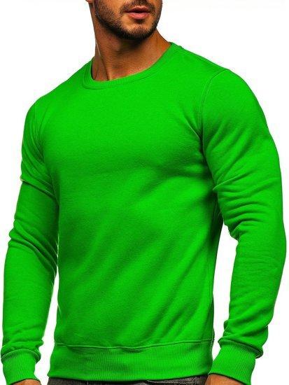 Bolf Herren Sweatshirt ohne Kapuze Hellgrün  2001