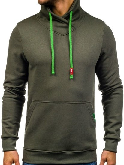 Bolf Herren Sweatshirt ohne Kapuze Khaki 04