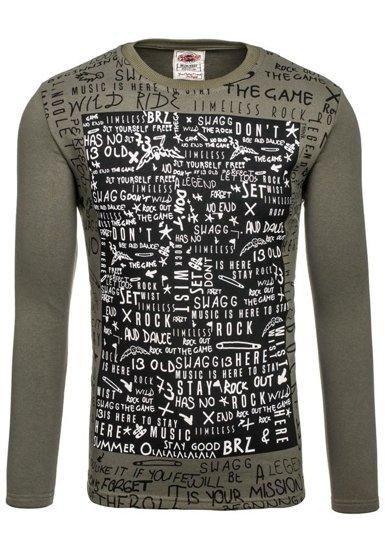 Bolf Herren Sweatshirt ohne Kapuze Khaki 9082