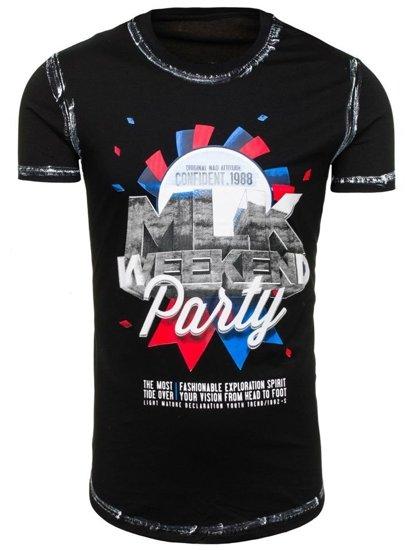 Bolf Herren T-Shirt Schwarz s028