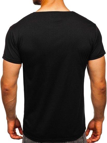 Bolf Herren T-Shirt mit Motiv Schwarz  KS1944