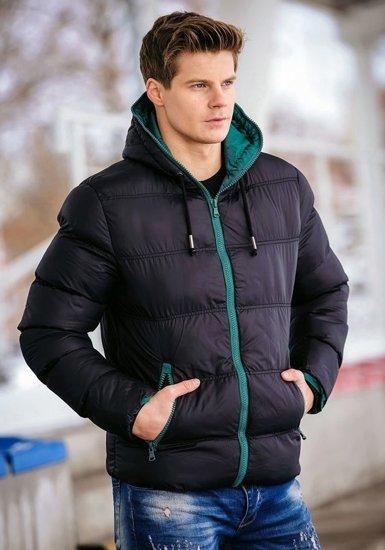 Bolf Herren Übergangsjacke Schwarz 8851