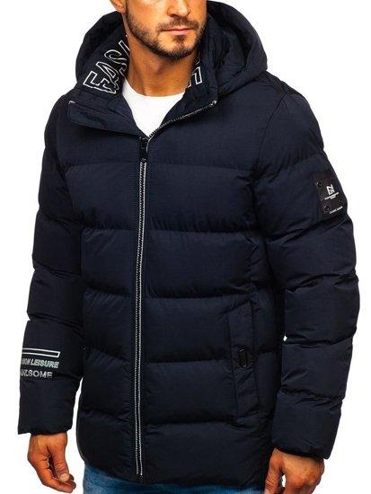 Bolf Herren Winterjacke Dunkalblau  5973