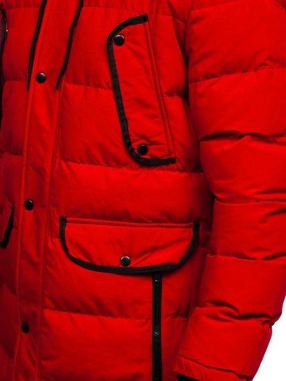 Bolf Herren Winterjacke Parka Rot  1091