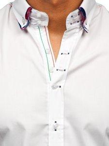 Bolf Herren Hemd Langarm Elegant Weiß 2705