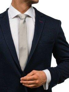 Bolf Herren Krawatte Grau K001