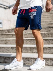 Bolf Herren Kurze Sporthose Dunkelblau  EX07-1
