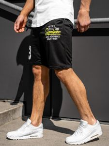 Bolf Herren Kurze Sporthose Schwarz  EX06-1