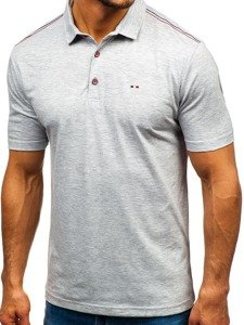 Bolf Herren Poloshirt Grau  6797