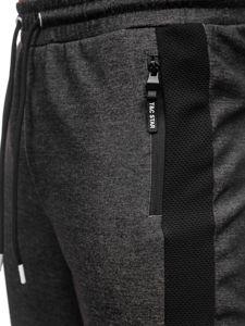 Bolf Herren Sporthose Schwarz-Weiß  Q1040