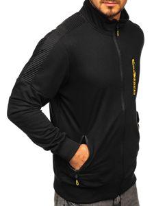 Bolf Herren Sweatshirt mit Reißverschluss Schwarz  JX9827