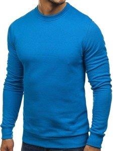 Bolf Herren Sweatshirt ohne Kapuze Blau 01