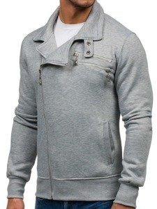 Bolf Herren Sweatshirt ohne Kapuze Grau  002