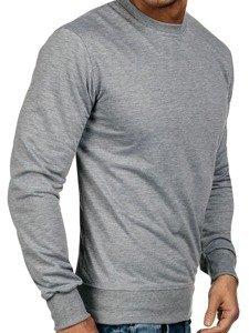 Bolf Herren Sweatshirt ohne Kapuze Grau 7039