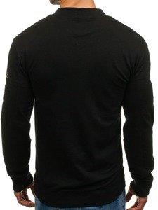 Bolf Herren Sweatshirt ohne Kapuze Schwarz  0733