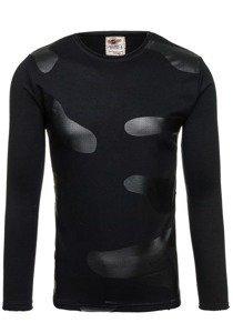 Bolf Herren Sweatshirt ohne Kapuze Schwarz 9081