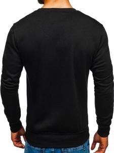 Bolf Herren Sweatshirt ohne Kapuze Schwarz J88
