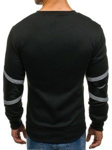Bolf Herren Sweatshirt ohne Kapuze Schwarz  Y72