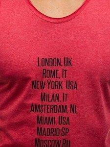 Bolf Herren T-Shirt Tanktop Rot 1124