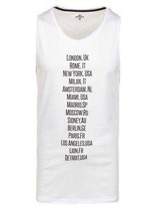 Bolf Herren T-Shirt Tanktop Weiß 1124
